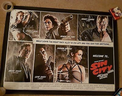Sin City official UK cinema quad poster rare