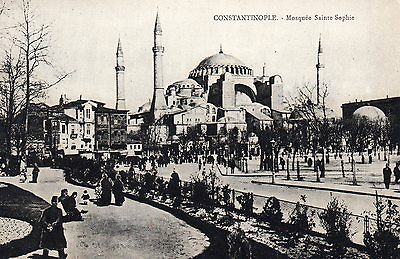 OLD POSTCARD 1900's - CONSTANTINOPLE SAINT SOPHIA MOSQUE - ISTANBUL