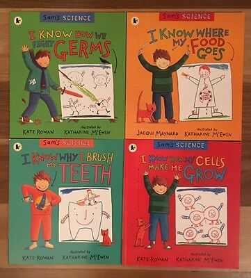 """6 x amazing books on Human Biology for kids, including 4 x """"Sam's Science"""" books"""