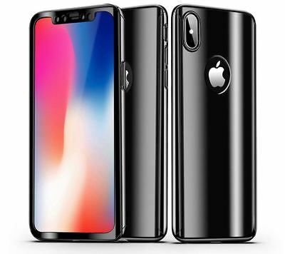 Mirror Hybrid 360 Hard Thin Case Tempered Glass Cover For iPhone X 8 7 Plus 6s 5