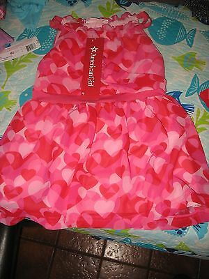 American Girl Truly Me Red Hearts Ruffle Dress FOR GIRLS SZ 14  NWTS