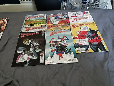 Web Warriors issues #1-11 all new all different marvel complete series