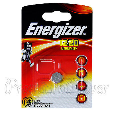 1 x Energizer Lithium CR1220 battery 3V Coin Cell BR1220 KRC1220 DL1220 EXP:2021