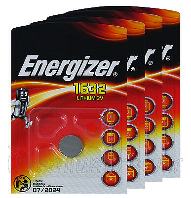 4 x Energizer Lithium CR1632 batteries 3V Coin Cell BR1632 KRC1632 EXP:2024