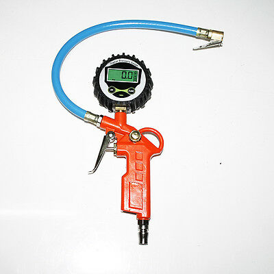 LCD Digital Tire Tyre Inflation Inflating Pump Gun With Pressure Gauge