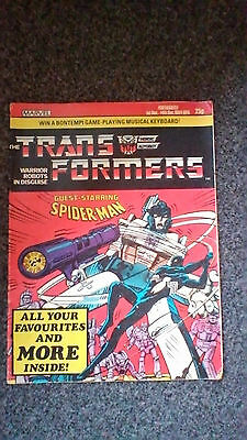 Transformers comic UK issue 6 Marvel 1984 G1 Guest staring spiderman