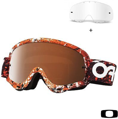 Machera occhiale motocross enduro Oakley MX O Frame Orange - Lente black iridium