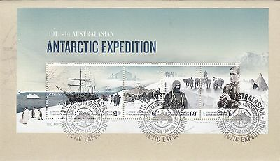 1911-1914 Antarctic Expedition Mini Sheet Fdc
