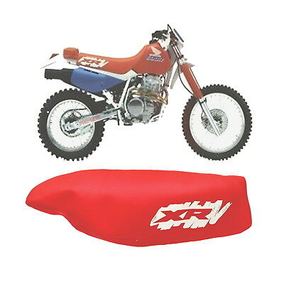 HONDA XR600R XR 600 R 1990 MODEL MOTORCYCLE SEAT COVER IN RED with WHITE LOGO