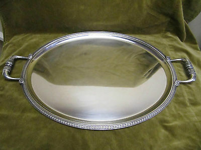 Vintage Silver plated oval serving tray / tea tray Christofle malmaison empire