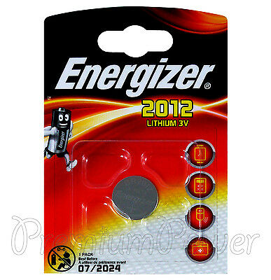 1 x Energizer Lithium CR2012 battery 3V Coin Cell BR2012 KRC2012 DL2012 EXP:2024