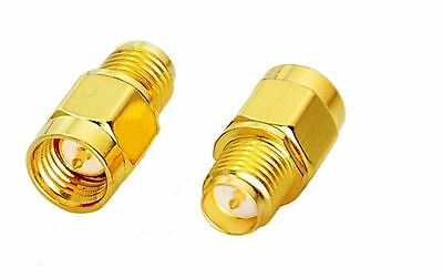 SMA Male Plug to RP- SMA Female  Adaptor /Coaxial Connector - UK Seller