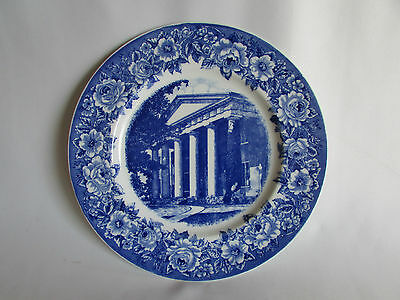 Flow Blue Plate Shenango China Old Centre Authorized Limited Edition 1931 Old