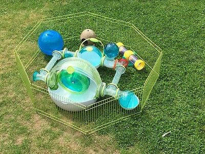 Ovo dwarf hamster cage and toys • £14.00 - PicClick UK