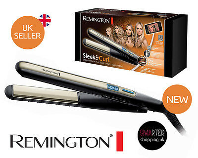 Remington S6500 Sleek and Curl Hair Ceramic Straightener with digital LCD Slim