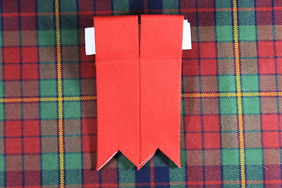NEW SCOTTISH HIGHLAND KILT Polyester HOSE / SOCK FLASHES WITH GARTERS IN RED