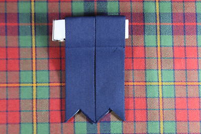 NEW SCOTTISH HIGHLAND KILT Polyester HOSE / SOCK FLASHES WITH GARTERS IN NAVY