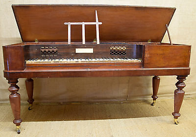 Early Victorian square piano, mahogany, by John Broadwood & Sons London