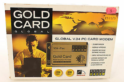 GLOBAL V.34 PC Card Modem