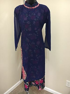 Indian Pakistan Bollywood Kurti KurtaWomen CHIFFON Designer Dress Top US size 42