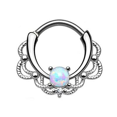 Cartilage Gold New Steel Bead Ear Rings Lip Septum Nose Piercing Ring Jewelry