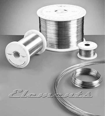 10 Meter Long Silver Plated Non Tarnish Jewellery Craft Round Wire 0.25 - 0.8mm
