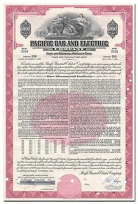 Pacific Gas and Electric Company Bond Certificate