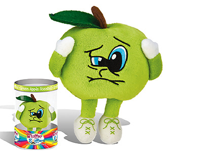 """New-Super Whiffer Sniffers-Sour Saul-11"""" Very Soft Plush-Green Apple Scented!!"""