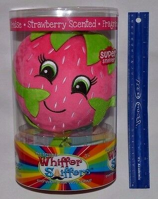 """New-Super Whiffer Sniffers-Bitsy Berry-12"""" Huggable Plush-Strawberry Scented"""