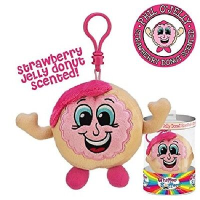 New-Whiffer Sniffers-Phil O' Jelly--Strawberry Donut Scented -Backpack Clip-Rare