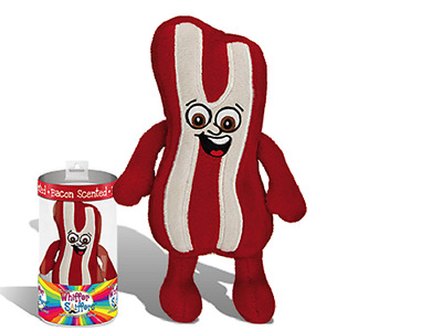 """New-Super Whiffer Sniffers-Ben Sizzlin'-12"""" Soft Huggable Plush-Bacon Scented"""