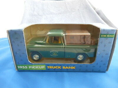 New Midland John Deere Implement 1:25 Scale 1955 Pickup Diecast Bank By Ertl Co.