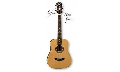 Luna Muse Safari 3/4 Travel Guitar w/ Gig Bag - Natural. Delivery is Free