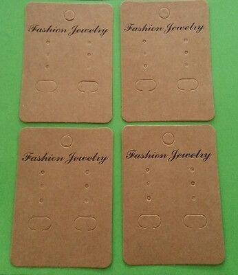 20 Handcrafted Earring Cards for Display 70mm CARD ~ JEWELLERY MAKING ACCESSORY