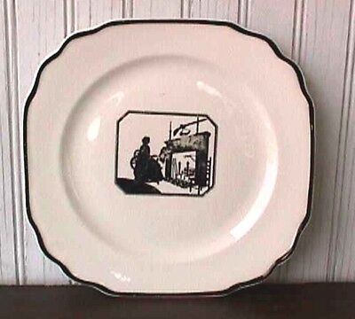 """**colonial Lady Silhouette 8 1/8"""" Square Salad Plate Harker Us5-F"""