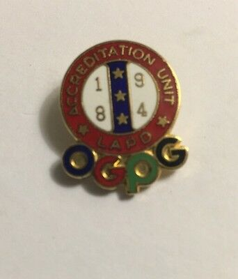 LOS ANGELES Police Dept Accreditation Unit 1984 Olympics Pin RARE