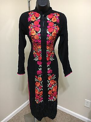 Indian Pakistan Bollywood Kurta Kurti Women Ethnic Designer Dress Top US size 42
