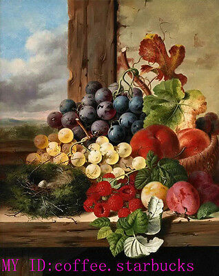 """Art Repro oil painting:""""Fruit still life at canvas"""" 24x36 Inch #011"""