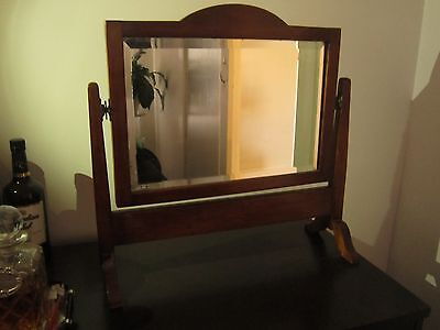 Vintage Early 20Th Centry Bevelled Edged Classic Duchess Vanity Mirror