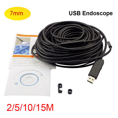 20M 6 LED USB Waterproof Endoscope Borescope Snake Inspection Video Camera 7mm
