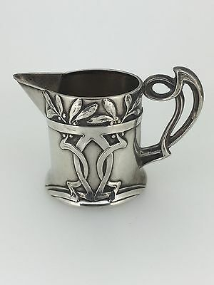 Art Nouveau 800 Silver Antique Milk Jug. Germany. Circa 1905.