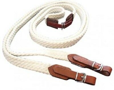 RED CENTRE Stainless Steel Horse Cotton Reins - 3 Colours Available