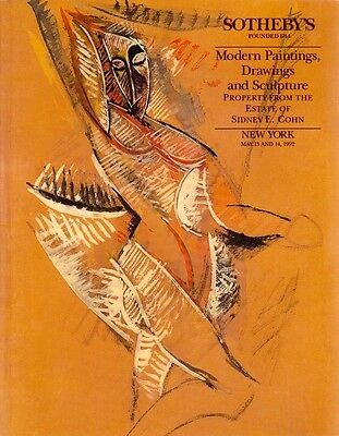 Sotheby's Modern Paintings, Drawing & Sculpture New York May 13-14, 1992