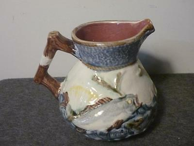 Antique 19th century Shorter & Son 'Oceanic' Seascape with Fish Jug