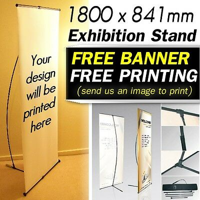 Exhibition Advertising Banner Stand Shop Sign Display Roll Pull Pop Up Backdrop