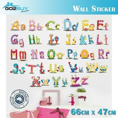 A-Z Colorful letters Alphabet Kids Wall Stickers Removable Art Vinyl DIY Decal