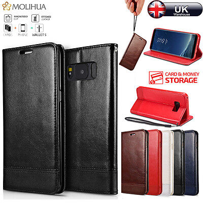 Luxury Magnetic Flip Wallet Leather Stand Case Cover For Samsung Galaxy S8 & S8+