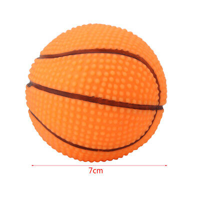 Dog Puppy Pet Playing Sound Ball Bell Chewing Squeaky Toy Basketball Football SG