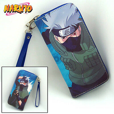 Anime Unisex Naruto Hatake Kakashi Cosplay PU Leather long Purse Wallet