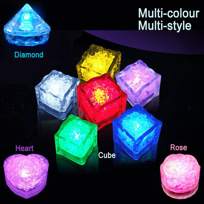 Multi-Color LED Waterproof Flash Ice Color Light Ice Cubes Wedding Party Xmas